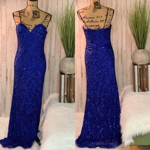 Scala Blue Formal Gown-Size 8-#26